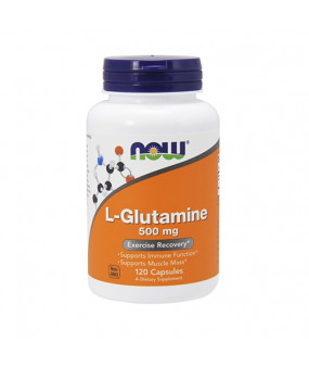 Now Foods L-Glutamine 500mg (120) Glutamiin