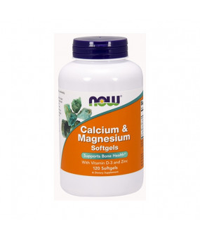 Now Foods Calcium & Magnesium with Vitamin D3 & Zinc (120) kaltsium, magneesium, vitamiin d3 ja tsink