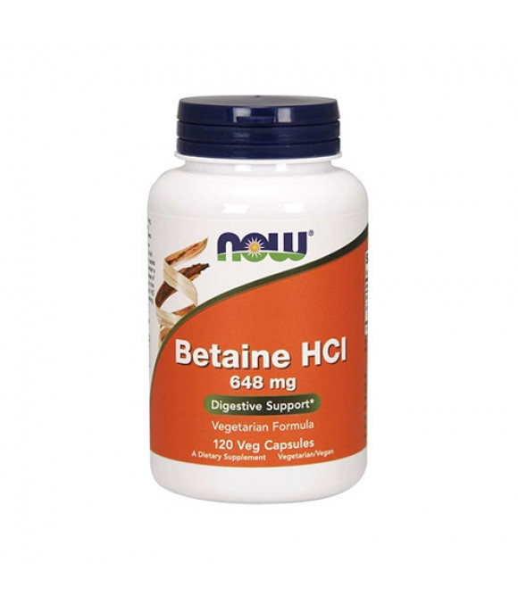 Betaiin Now Foods Betaine HCl (120)