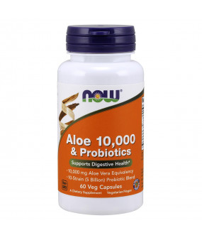 Now Foods Aaloe 10 000 & Probiootikumid, N60