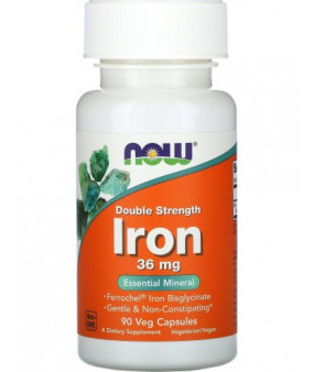 Now Foods Iron, Raud 36mg, N90