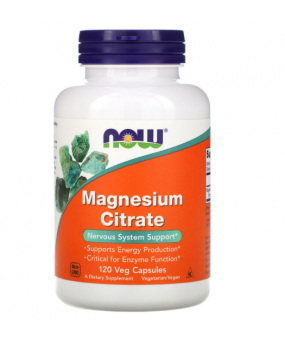 NOW Foods Magnesium Citrate, 400mg - 120 vcaps
