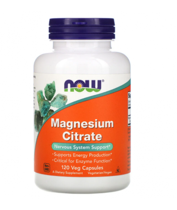 NOW Foods Magnesium Citrate, 400mg - 120 vcaps magneesium