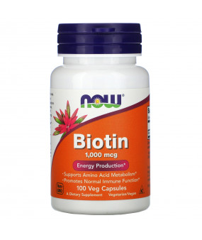 Now Foods Biotin, Biotiin 1000mcg, N100