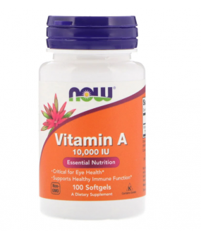 NOW Foods Vitamin A, 10 000 IU - 100 softgels